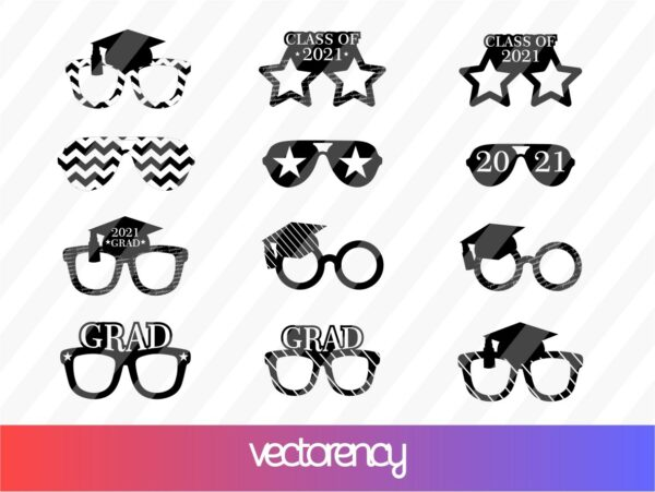 Class of 2021 Graduation Party Photo Booth Props SVG