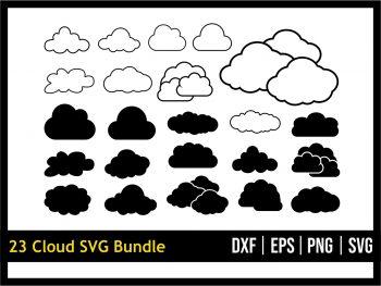 Cloud SVG Bundle