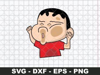 Crayon Shinchan Sticker SVG