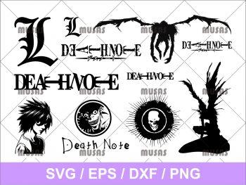 Death Note L Ryuk Light Yagami SVG