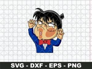 Detective Conan Funny Sticker SVG