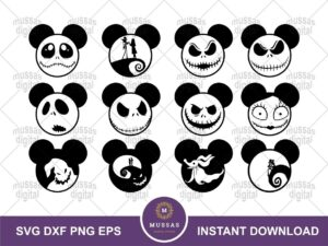 Disney Mickey Halloween SVG
