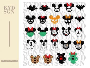 Disney Mickey and Minnie Halloween SVG