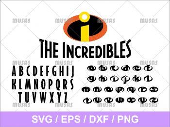 Disney Pixar The Incredibles SVG