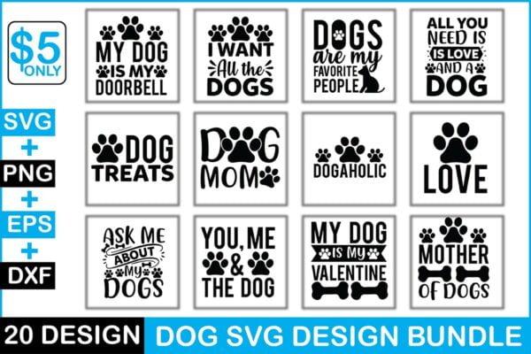Dog Svg Design Bundle Vectorency Dog Svg Design Bundle