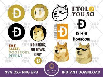 Dogecoin SVG Bundle