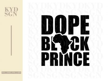 Dope Black Prince SVG