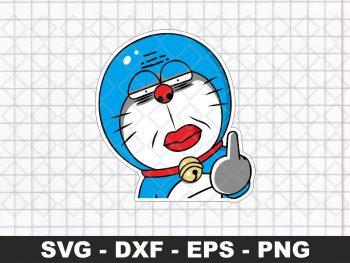 Doraemon Fuck Funny Sticker SVG