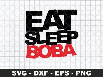 EAT SLEEP BOBA SVG