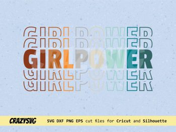 Girl Power Mirror Style SVG