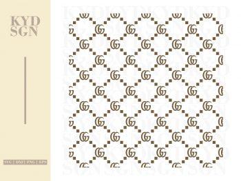 Gucci Pattern Seamless SVG