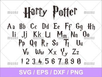 Harry Potter Font Alphabet Clipart SVG