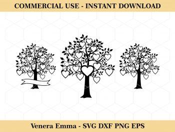 Hearts Family Tree SVG