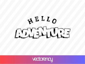 Hello Adventure SVG