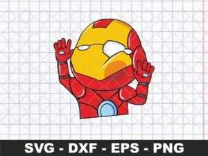 Iron Man Funny Sticker SVG