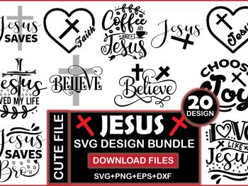 Jesus Svg Design Bundle Vectorency Today's Deals