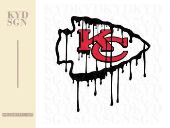 Kansas City Logo Drip Blood Design SVG
