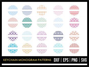 Keychain Monogram Patterns SVG