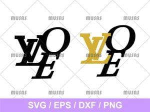 LVOE Louis Vuitton Love SVG
