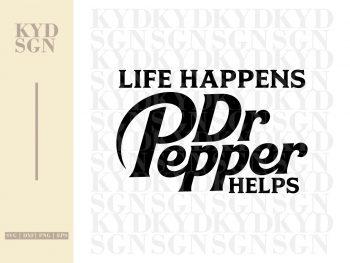 Life Happens Dr. Pepper Helps SVG