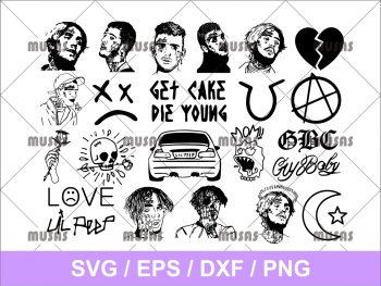 Lil Peep SVG