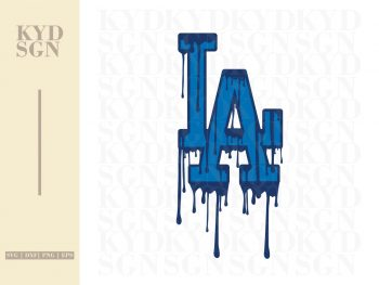 Los Angeles Dodgers Logo Drip SVG