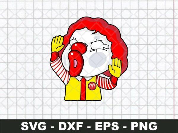 Mc Donald Funny Sticker SVG
