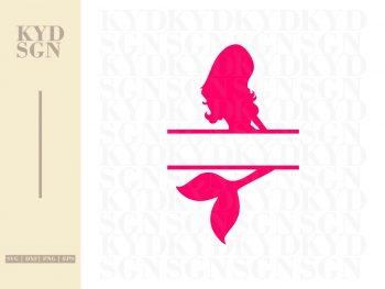 Mermaid SVG Monogram