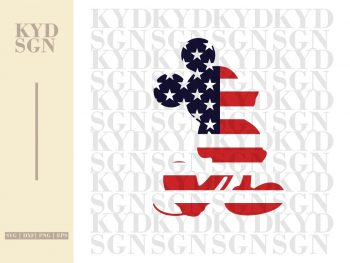 Mickey Mouse American Flag SVG