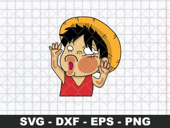 Monkey D Luffy Funny Sticker SVG