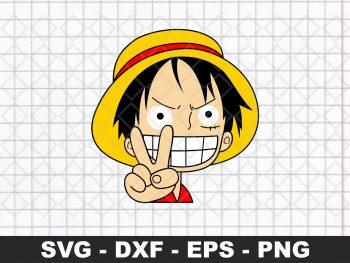 Monkey D Luffy Peace Sticker SVG