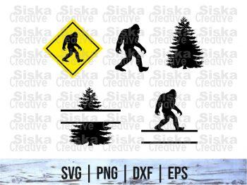 Monogram Bigfoot SVG