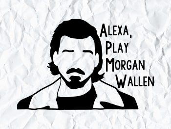 Morgan Wallen Alexa Play SVG