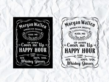 Morgan Wallen American Nights Jack Daniels SVG