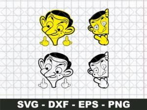 Mr. Bean Cricut File SVG