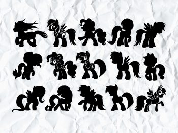 My Little Pony Silhouette SVG