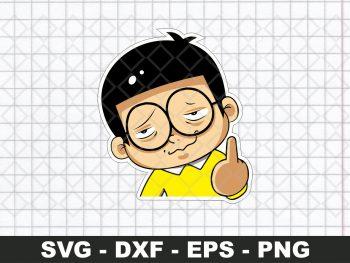 Nobita Funny Sticker SVG