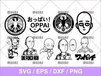 One Punch Man Anime Manga SVG