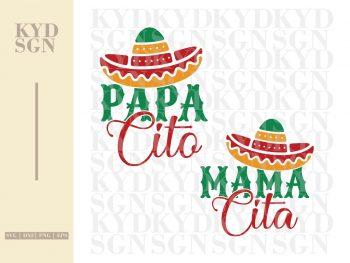 Papa Cito Mama Cita SVG
