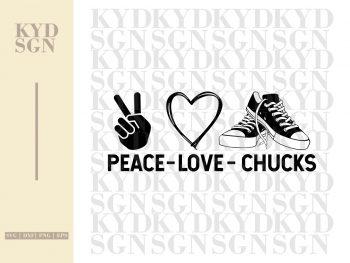 Peace Love Chucks SVG