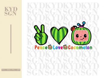 Peace Love Cocomelon SVG