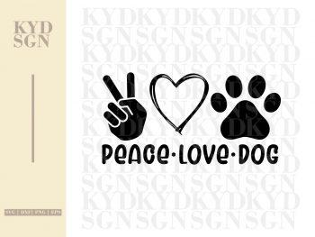 Peace Love Dog SVG