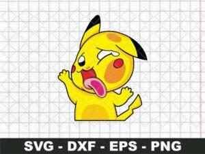 Pokemon Pikachu Funny Sticker SVG