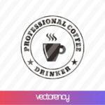 Professional Coffee Drinker SVG