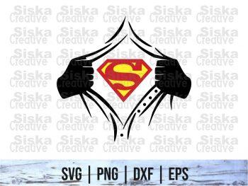 Rip Tear Shirt Superhero Superman SVG