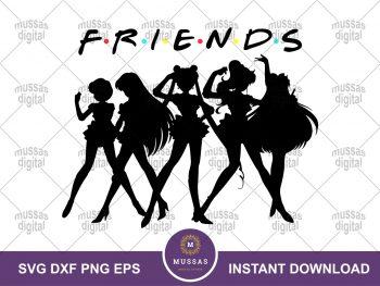 Sailor Moon Friends SVG