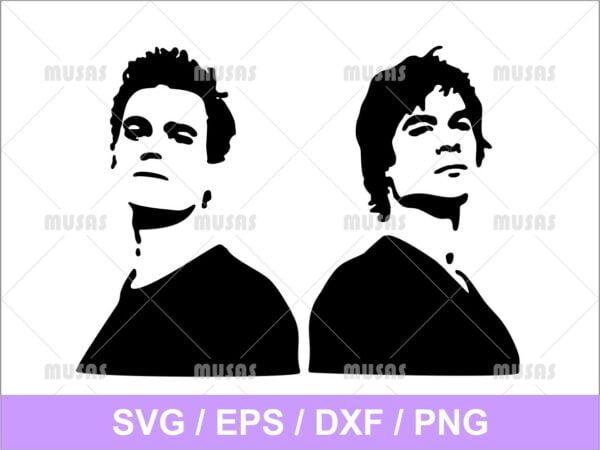Salvatore Brothers Vampire Diaries SVG