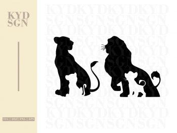 Simba & Nala Lion King SVG