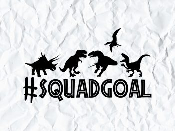 Squad Goals Jurassic Park SVG
