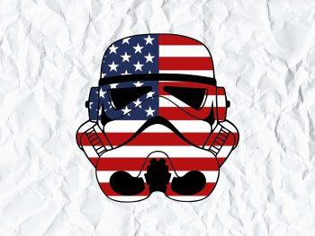 Stormtrooper US Flag SVG